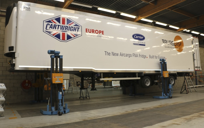Cartwright Europe Launches New FNA Air Cargo Fridge Trailer In Benelux.
